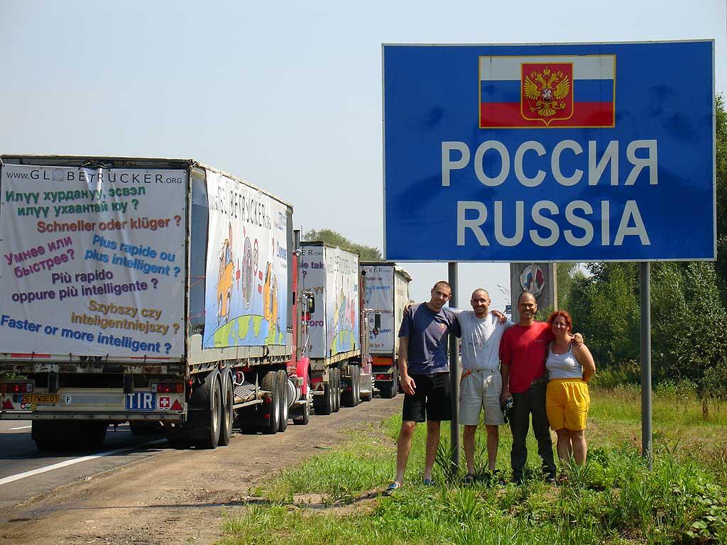 Librement avec tous les russes
